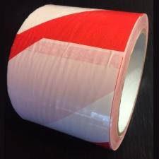 CINTA PVC 7.5 CM ROJA Y BLANCA